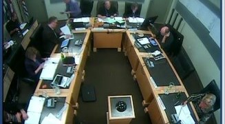 Image of live webast of West Kelowna Council Meeting