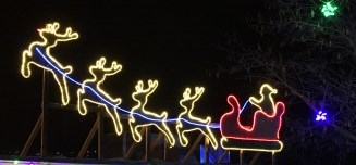 Santa and His Reindeer - CWK Image